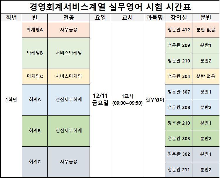 실무영어 통합 시험 시간표( 수정).JPG